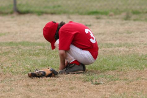 Sad baseball player